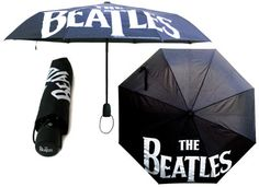 BEATLES LOGO BLACK UMBRELLA [7841] - $24.00                                             If the rain comes they run and hide their heads