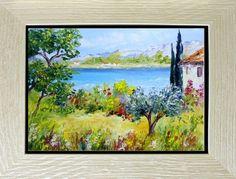 TABLEAU PEINTURE Tableaux de provence Bord de mer, marine peintures de provenc Peintres de provence - Vue sur la plage