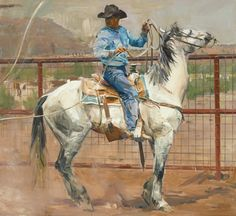 """""""Bareback Ride Ochre"""" - Originals - All Artwork - Sophy Brown Trio Wedding Sets, Animal Paintings, Horse Paintings, Into The West, West Art, Most Beautiful Animals, Le Far West, Cowboy And Cowgirl, Equine Art"""