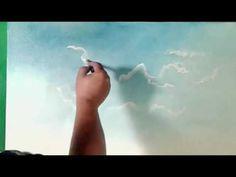 Nasz pierwszy obraz olejny - ,, Pejzaż, atmosfera i  sykatywa, cz 9 - YouTube