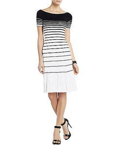 BCBG Agnese Gradient Striped Dress