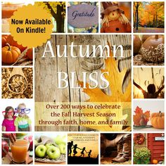 Autumn Bliss Book For Kindle- Over 200 Ways To Celebrate The Fall Harvest Season through faith, home, and family.