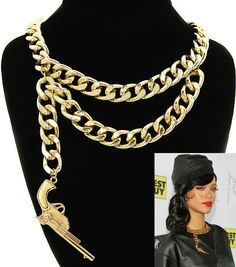 Rihanna inspired necklace available in gold and silver buy at tajboutique.net under statement necklaces tab