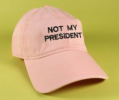 9a96ab2b429 Items similar to NEW Not My President Baseball Hat Dad Hat Low Profile  White Pink Black Fuck Trump Hat Embroidered Unisex Adjustable Strap Back  Baseball Cap ...