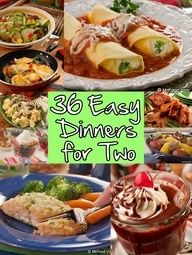 Looking for an easy dinner recipe you can cook up for two? Sick of having so many leftovers? Then youll love our collection of 36 Easy Dinner Recipes for Two! #easy #dinner #recipes
