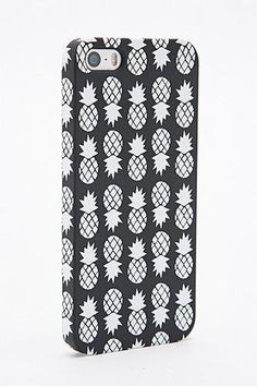 Pineapple iPhone Cover in Black and White #technology #covetme #urbanoutfitters #iphone #case #pineapple