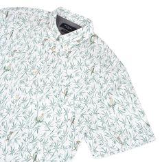 Paul Smith Shirts | White Short Sleeved Parrot Print Shirt