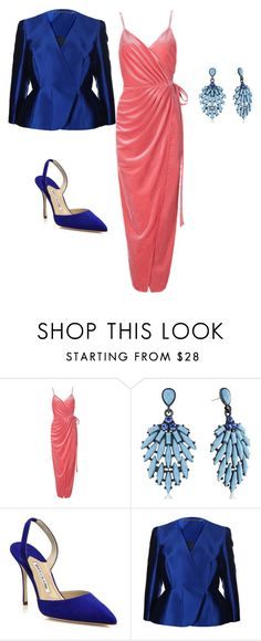 """Glam"" by huda77 on Polyvore featuring Manolo Blahnik and Matthew Williamson"