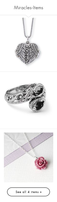 """""""Miracles-Items"""" by kyleerandle ❤ liked on Polyvore featuring jewelry, necklaces, heart necklace, gothic jewelry, steampunk jewelry, heart locket necklace, gothic necklaces, rings, pear cut ring and onyx jewelry"""
