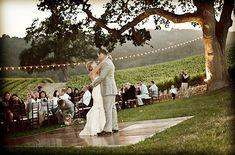 Outdoor wedding dance floor :)
