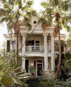 Greek Revival Architecture, New Orleans Homes, Welcome To The Jungle, Louisiana, Exterior, Mansions, House Styles, Places, Instagram