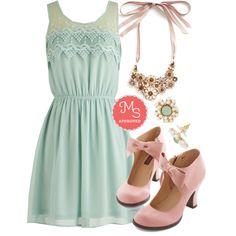 Peach Julep Dress in Mint