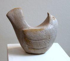 sculptural ceramic clay pottery bird (céramique sculpture oiseau)