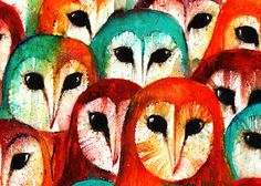 Parliament of Owls by StudioMarks Pinned by www.myowlbarn.com