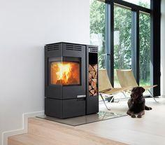 Aduro 12.  Corner woodburner for sitting room corner (internal).