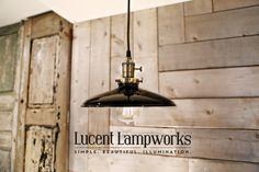 Lighting with Black Enamel Shade and von lucentlampworks auf Etsy
