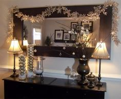 A large mirror like this would be pretty on the wall over our dining room table