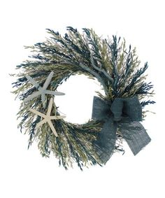 This Blue Summer 22'' Wreath is perfect! #zulilyfinds