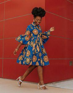 Ankara Dress African Clothing African Dress African Print Dress African Fashion Women's Clothing African Fabric Short Dress Summer Dress - How To Be Trendy African Dresses For Women, African Print Dresses, African Attire, African Wear, African Women, African Prints, African Style, Ghana Fashion, African Fashion Ankara