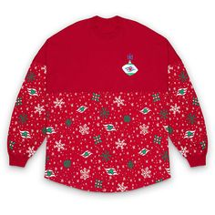 Disney Cruise Line Holiday Spirit Jersey for Adults | shopDisney Disney Visa, Search Trends, Spirit Jersey, Festival Tops, Disney Cruise Line, Bare Necessities, Personalized Products, Snowflakes, Holiday