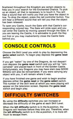 Atari 2600 - Adventure (1979) CX-2613 - Game Program Instructions - Page 4