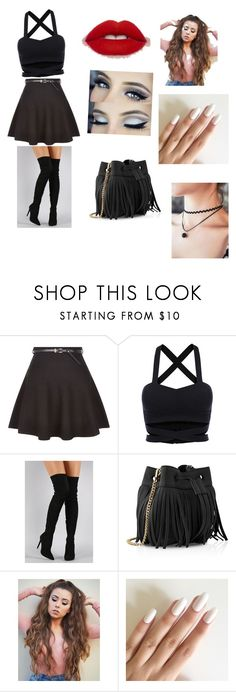 """""""black."""" by musaddika ❤ liked on Polyvore featuring New Look, Liliana and Whistles"""