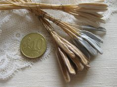 Stamens Vintage Millinery Decoration Trim French Silk Artificial Hand Made Flowers Bridal Paris Doll Hat Trim RibbonWork Basketry Craft 12Ps by MillineryJewellery on Etsy