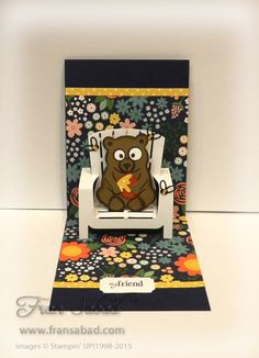 Fran Sabad using the Pop it Ups Adirondack Chair and Honey the Bear die sets by Karen Burniston for Elizabeth Craft Designs. - Adirondak Chair 02 open