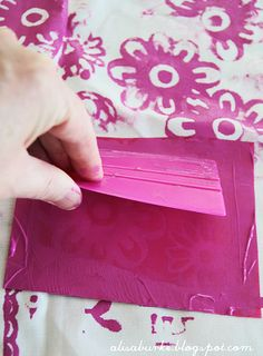 screen print your own fabric designs