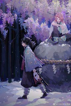 Giyuu & Sabito - Demon Slayer/Kimetsu no Yaiba M Anime, Fanarts Anime, I Love Anime, Anime Demon, Otaku Anime, Anime Guys, Anime Art, Gamers Anime, Demon Slayer