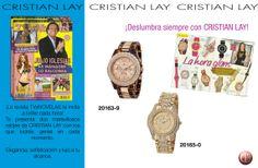 Relojes para brillar en cada hora. www.cristianlay.com Revista Tv y Novelas