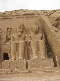 Rameses the great - statues Moved to higher ground in the 60s to protect it from the flooding caused by the creation of the Aswan High Dam and the resulting Lake Nasser, it is one of many monuments saved thanks to the efforts of UNESCO.  how was this ever built...