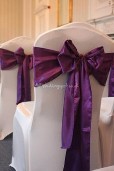 Chair cover and sash from Merley House http://www.weddingspot.co.uk/hotel-wedding/merley-house--e29888