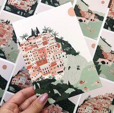 Soft Colors, Colours, Scrapbook Journal, Italian Art, Landscape Prints, Gouache Painting, Art Sketchbook, Box Art, Print Format