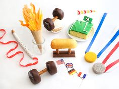 Team Sweets : While chips, dips and everything cheese-covered might suit your typical game-day buffet, there's something about the enterprising spirit of the Olympics that calls for a more special spread. These desserts are unmistakably on-theme, honoring the sports and symbols we typically see only every four years. But they also boast crowd-pleasing flavors and stay unfussy in their construction. In other words, they earn a gold medal for sure.