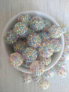 22mm rainbow rhinestone bubblegum beads (10ct) gumball beads chunky beads wholesale beads chunky necklace making supply multi color by PinkPolkaDotHearts on Etsy