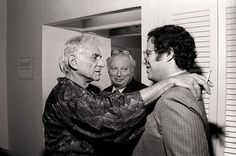 Amazing picture of Leonard Bernstein, composer and conductor of New York Philharmonic,Yitzak Perelman, famed violinist and the great Issac Stern.