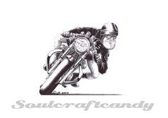 cafe racer illustrations | Cafe Racer No.6, finally.