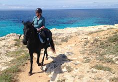 Admiring the view on horse at Son Bou Cami de Cavalls Menorca Menorca, Spanish Islands, Balearic Islands, Horse Riding, Cami, Spain, Horses, Explore, Beach