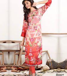 Buy Red printed Crepe Kurti ethnic-kurti online