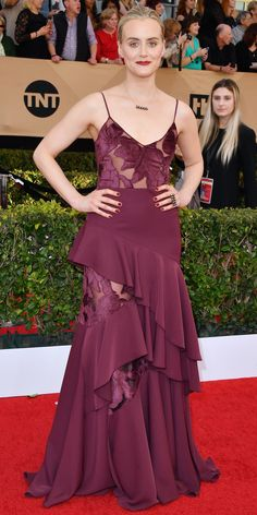 See All the Celebrity Looks from the 2017 SAG Awards Red Carpet - Taylor Schilling from InStyle.com