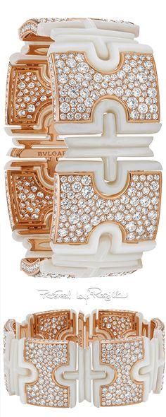 Bulgari Parentesi cuff rose gold and diamond save by Antonella B. Rossi