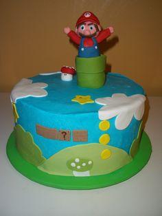 Mario Birthday Cake #birthdaycake