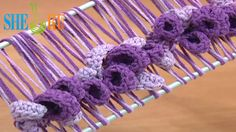 Hairpin Lace Crochet Spring Pattern Tutorial 37  - Hairpin Crochet Flowers and Leaves