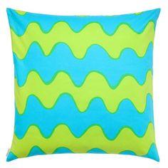 Marimekko Lime/Turquoise Pikku Lokki Throw Pillow $41.00