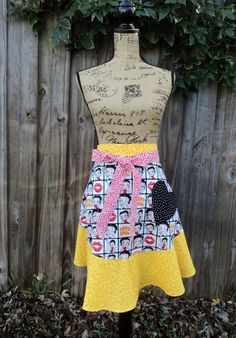 Women's Half Apron  Betty Boop by FromNinasCloset on Etsy