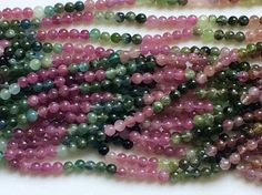 Multi Tourmaline Beads Multi Tourmaline Plain by gemsforjewels