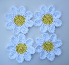 Transcendent Crochet a Solid Granny Square Ideas. Inconceivable Crochet a Solid Granny Square Ideas. Crochet Daisy, Crochet Flower Patterns, Crochet Motif, Crochet Flowers, Knitting Patterns, Knit Crochet, Crochet Summer, Ravelry Crochet, Easy Crochet