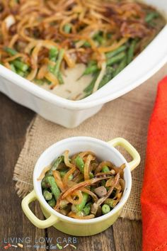 Green Bean Casserole- Paleo and so much healthier than the conventional, traditional version- no canned cream soups or packaged onions