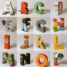 26 paper craft templates for all letters of the alphabet, each an animal, thing, or people starting with that letter. Includes link to printable template!